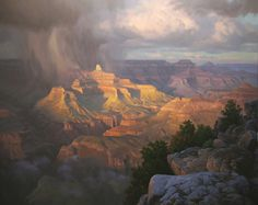 Maricopa Point 2006, acrylic painting, plein air painting, 48 x 60. Private collection.