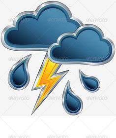 Buy Vector Weather Icon with a Storm Weather by Kavalenkava on GraphicRiver. Vector an icon of bad weather with clouds, a storm, a rain and a lightning. Other landscapes and nature images for you: Dog Vector, Free Vector Images, Vector Free, Clipart Images, Cartoon Cupcakes, Map Symbols, Dog Icon, Dark Drawings, Weather Icons