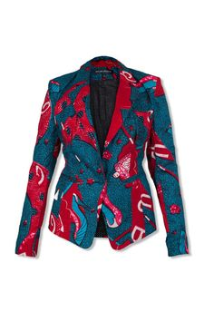 - Slim fit print blazer  - Single button to fasten at waist  - 100% cotton  - Fully lined  - Recommended dry clean only      Sizes available:  UK Size 8 (USA 4, Eur 36)  UK Size 10 (USA 6, Eur 38)  UK Size 12 (USA 8, Eur 40)  UK Size 14 (USA 10, Eur 42)  UK Size 16 (USA 12, Eur 44)
