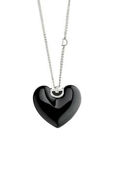 D.Icon black ceramic, white gold necklace with diamond