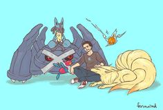 Tony Stark and his pokemon.