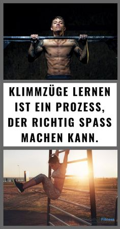 Learn perfect pull-ups: the ultimate guide-Perfekte Klimmzüge lernen: Die ultimative Anleitung You should know this before you start training fitness going - Planet Fitness Workout, Fitness Workouts, Ace Fitness, Fitness Routines, Fun Workouts, At Home Workouts, Fitness Diet, Fitness Hacks, Muscle Fitness