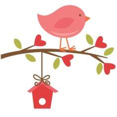 Bird on branch SVG