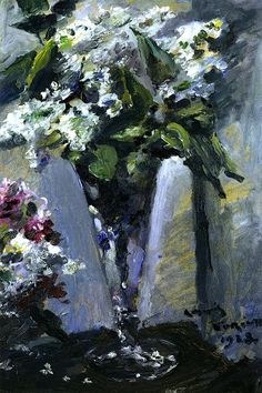Lilacs in a Glass Vase - Lovis Corinth