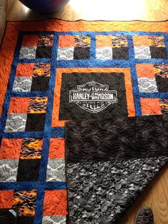Harley quilt I made for a friend's hubby.