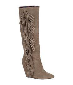 Betsey Johnson Zohara Fringe Boots $169.99 Available at Dillards.com