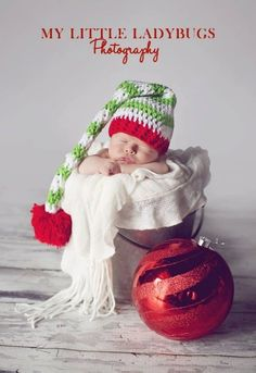 Newborn Christmas Elf Hat Crochet Baby Hat by PerfectlySweetProps, $15.00