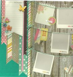 2 page Scrapbooking Layout Kit  Smile Big by CropALatteToGo, $10.00