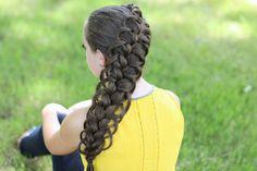 Diagonal French Loop Braid from Cute Girls Hairstyles
