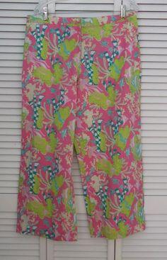 Lilly Pulitzer Pants XL Pink Fish Scuba Pajama Bottoms Sleep Lounge Sea #LillyPulitzer #CasualPants