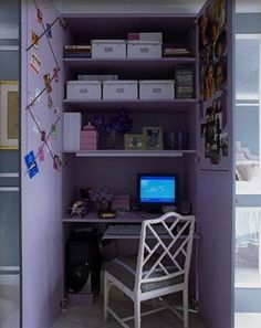 Rooms by Color: Grey and Purple Color Schemes
