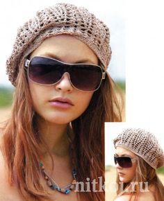 crochet beret, free pattern