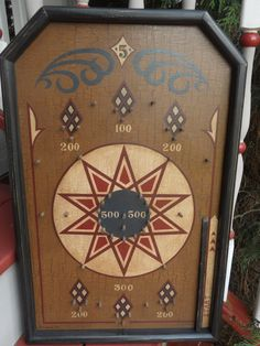 Primitive Pinball Game Board Folk Art by JohnnyUNamath on Etsy, $80.00