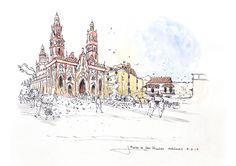 Plaza de San Nicolás, Barranquilla #worldsketchingtour #colombia #barranquilla #southamerica