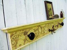 coat rack made with old door knobs