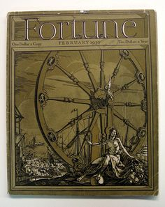 Fortune magazine presents on its cover. old fashioned Version, of a real wheel of Fortune a cover used in sept. 1934