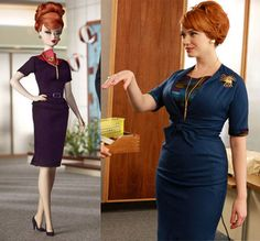 """Joan from """"Mad Men"""" as a Barbie. The Barbie really doesn't do Joan justice. Joan is way hotter and curvier and more beautiful. Sorry, Barbie."""