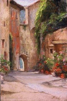 Bargemon Gate by Stephanie Birdsall Pastel ~ 16 x 14