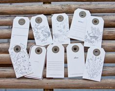 Bottled Gift Tags - Nature