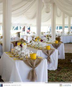 Burlap Wedding Ideas #FeeltheBeat https://www.facebook.com/feelthebeatentertainment