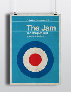 The Jam concert miniposter  mid century / by TheStereoTypist, £15.00 (I just found this guy's stuff and am really liking it)