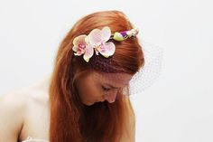 ORCHID/ Floral birdcage crown by DDSLLGirlsStore on Etsy, $53.00