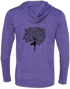 Yoga Clothing For You Mens Tree Pose Hooded Tee Shirt  Price : $22.99 - $25.99 http://yogaclothingforyou.hostedbywebstore.com/Yoga-Clothing-For-You-Hooded/dp/B00PYVKZMI