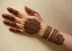 Simple Mehndi Designs for hands Step By Step For Beginners