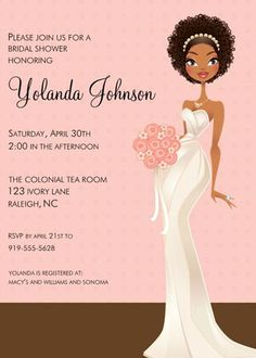 African American Bridal Shower Decorations | ... lane bridal shower invitation Hen Party // Bridal Shower Inspiration