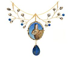 Christina Goodman: Beaded rabbit necklace