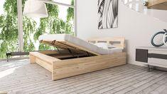 Drewniane łóżko ze skrzynią na pościel HAVANA - Internetowy sklep meblowy Onemarket.pl - Tanie nowoczesne meble młodzieżowe do sypialni,pokojowe