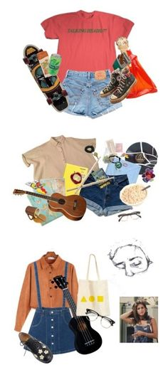 """""""Vintage/indie"""" by radteenn ❤ liked on Polyvore featuring Jil Sander, Converse, indie, Punk, grunge, aesthetic, Cavallini & Co., Pier 1 Imports, CC and Urbanears"""