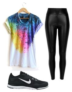 """color run"" by cayleemay on Polyvore featuring River Island and NIKE"