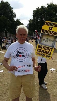 &K News Service‎Online protest against Gaza attacks.    British citizen says #NO2ISIS & shows Solidarity with #Palestine — in London, United Kingdom.