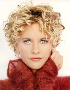 remember before meg ryan got lots of plastic surgery? and had adorable short curly hair?