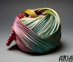 SHIBORI SILK RIBBON 4 Pleated to 1 Wide Silk by AriaDesignStudio, $15.99