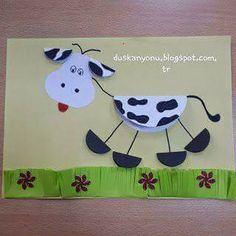 Here are the top 9 Cow Craft ideas for kids and preschoolers. Cow crafts are perfect crafts to show kids how a cow looks like. Kids Crafts, Farm Crafts, Animal Crafts For Kids, Toddler Crafts, Projects For Kids, Diy For Kids, Arts And Crafts, Cow Craft, Art N Craft