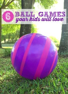 One toy that all children are drawn to are balls. Here are 6 ball games for your child that they'll love to play outside. Plus they'll get our kids moving!