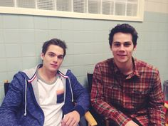 #DylanSprayberry #DylanOBrien on the set of #TeenWolfSeason5