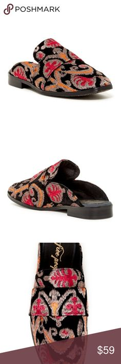 eb6b1846316 FREE PEOPLE Brocade At Ease Loafer Mules Brand New