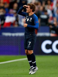 PARIS, FRANCE - OCTOBER 16: Antoine Griezmann of France celebrates during the UEFA Nations league match between France v Germany at the Stade de France on October 16, 2018 in Paris France (Photo by Jeroen Meuwsen/Soccrates/Getty Images)