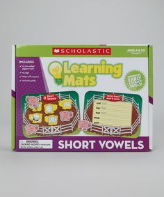Loving this Learning Mats: Short Vowels Set on #zulily! #zulilyfinds