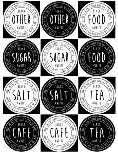 丸容器用 ラベル モノトーン 見本 Label Design, Logo Design, Pantry Labels, Happy Foods, Digi Stamps, Blog Entry, Sticker Design, Diy And Crafts, Projects To Try