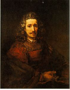 Rembrandt - Man with a Magnifying Glass   c. 1668 (150 Kb); Oil on canvas, 36 x 29 1/4 in; The Metropolitan Museum of Art, New York