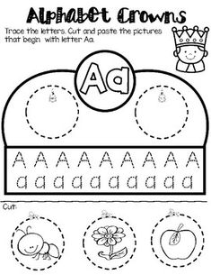 Students love making crowns for any occasion. This educational activity is not only fun but it also help students work on their fine motor skills.One crown for leach letter. Zoo Phonics, Alphabet Activities, Tracing Letters, Preschool Letters, English Language Learners, Spanish Language Learning, Spanish Lessons, French Lessons, Printable Preschool Worksheets