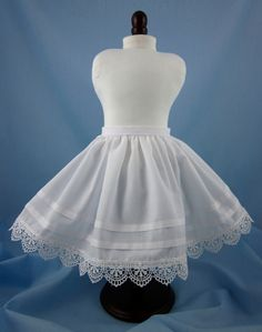 18 Inch Doll Petticoat 7 1/2 inches long by SewMyGoodnessShop, $12.00 on Etsy