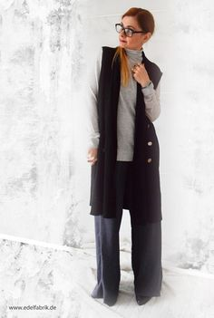 die EDELFABRIK | Mein Ü40 Blog für Mode und Beauty: Weite Hose zu weiter Weste kombinieren - Look