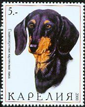 Dachshund stamp from Karelia