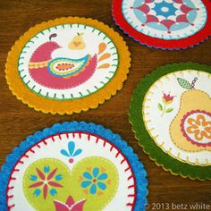 betz white: Felt and Fabric Coaster Tutorial