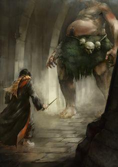 Harry and the Philosopher's Stone, Lionel Prats on ArtStation at https://www.artstation.com/artwork/qQemy
